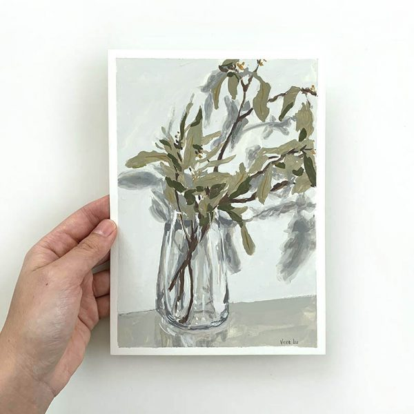 gum tree branch original artwork