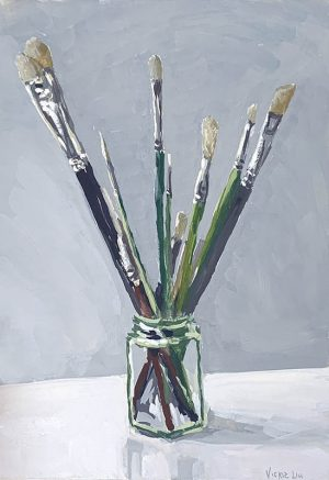 paintbrush still life painting