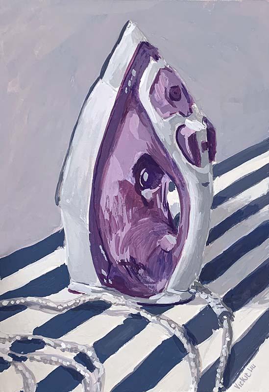 purple iron still life painting