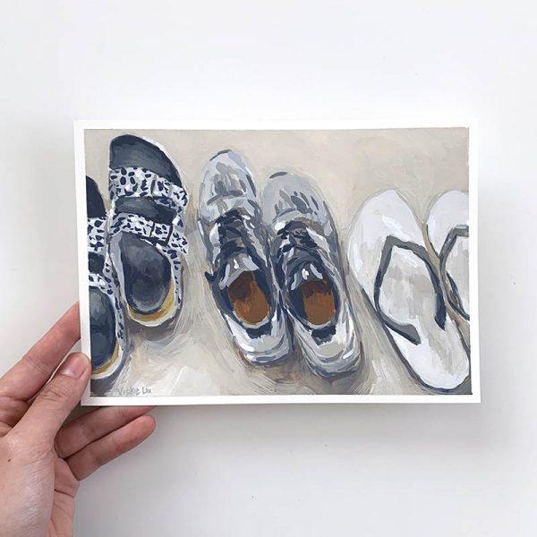shoe line up original artwork