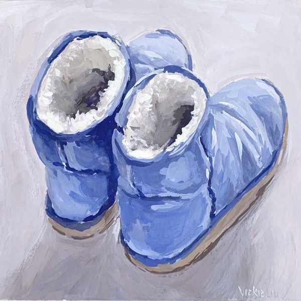blue ugg painting