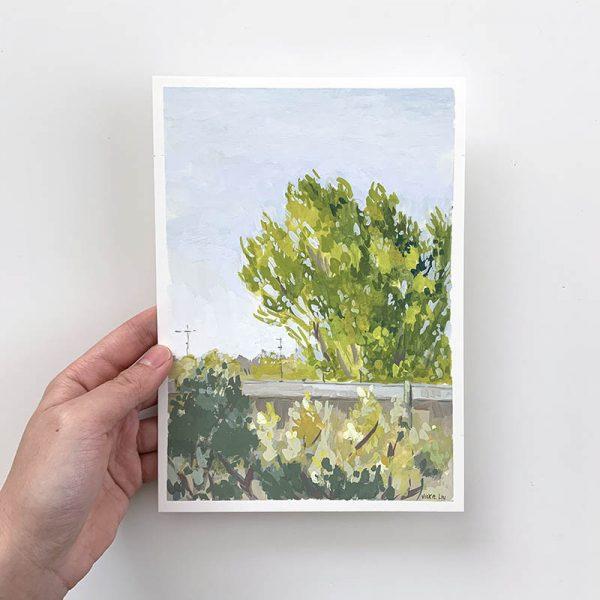 vibrant afternoon landscape original artwork
