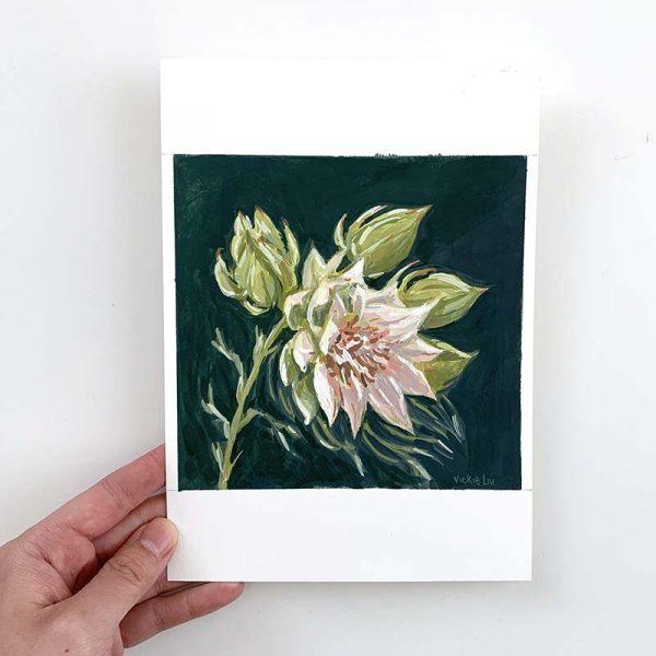 blushing bride protea original artwork