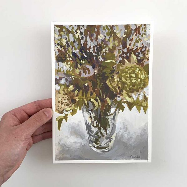dried native banksia original artwork