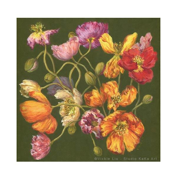 spring poppy artwork