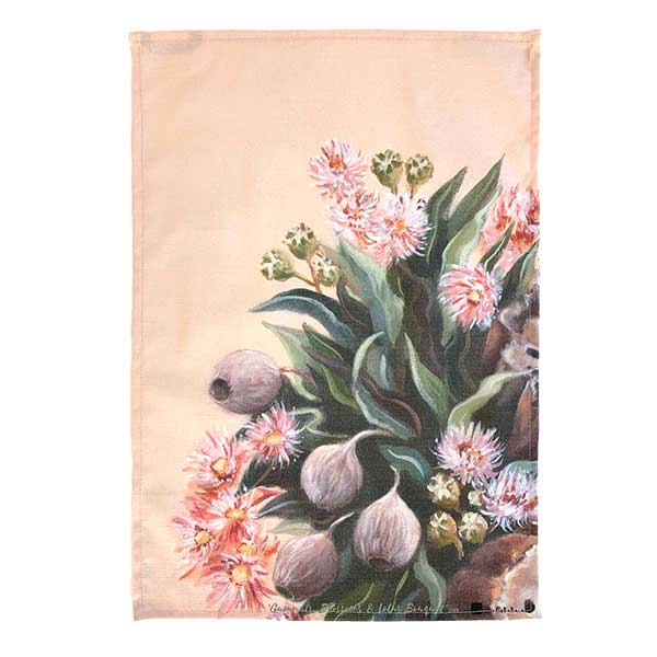 gumnut native floral tea towel