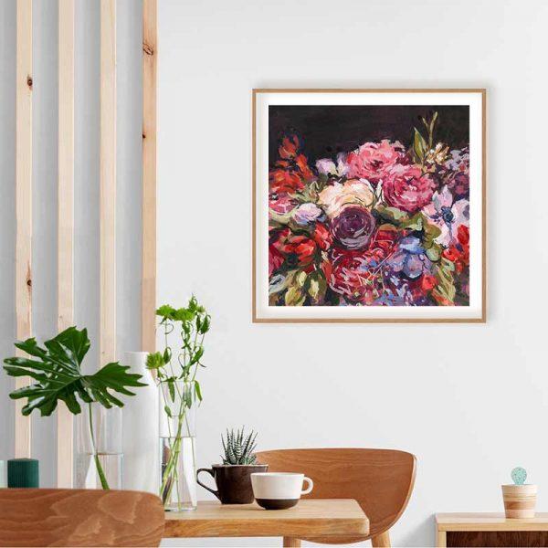 winter wedding bouquet print insitu