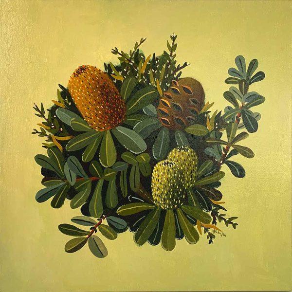 green banksia original painting