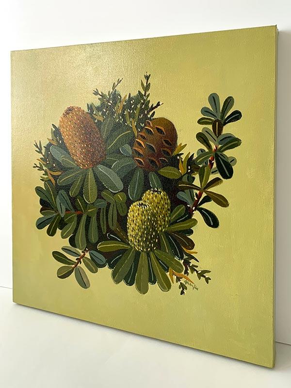 green banksia painting detail
