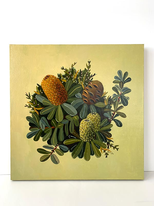 green banksia original painting