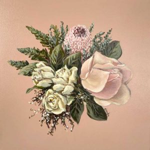 pink protea canvas painting