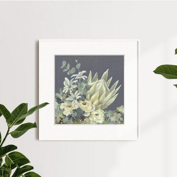 white king protea wall print