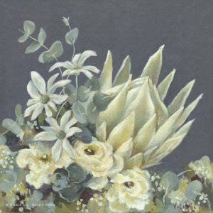 white king protea floral art print