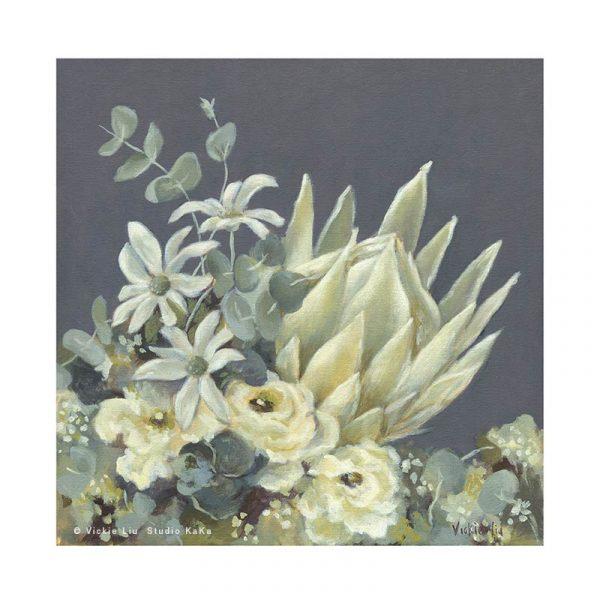 Australian protea floral art print