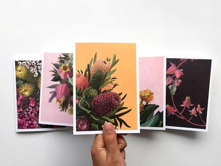 australian floral art cards