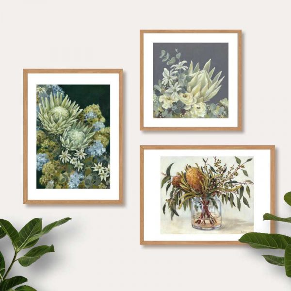 Australian Flower Art Print Neutral Colours