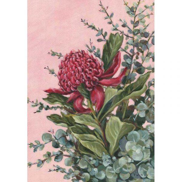 Pink Waratah Art Print