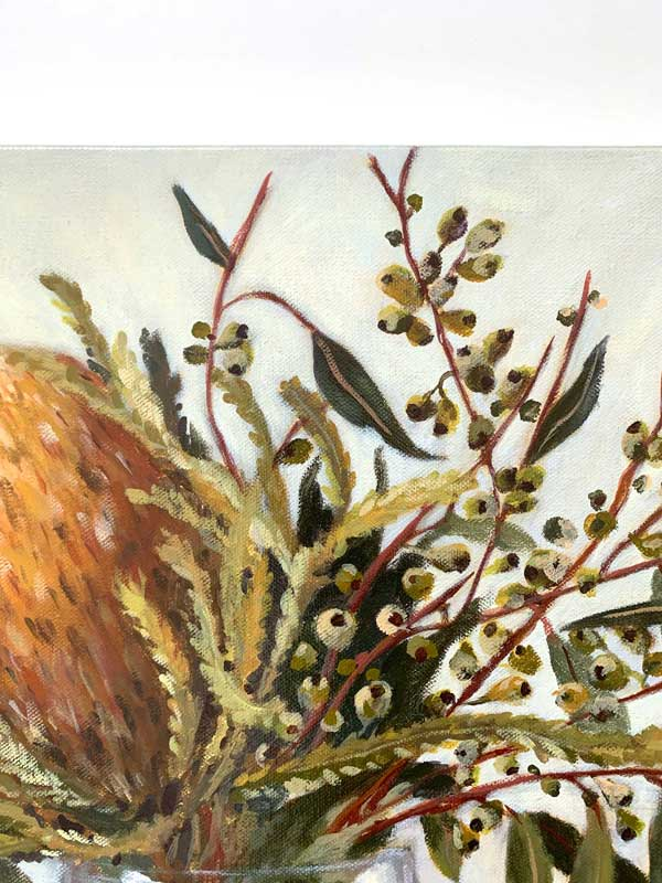 Autumn Australian Natives Still Life Original Painting Detail 1