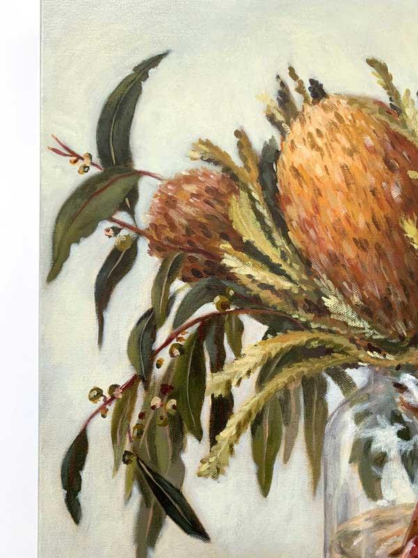 Autumn Australian Natives Still Life Original Painting DEtail 3