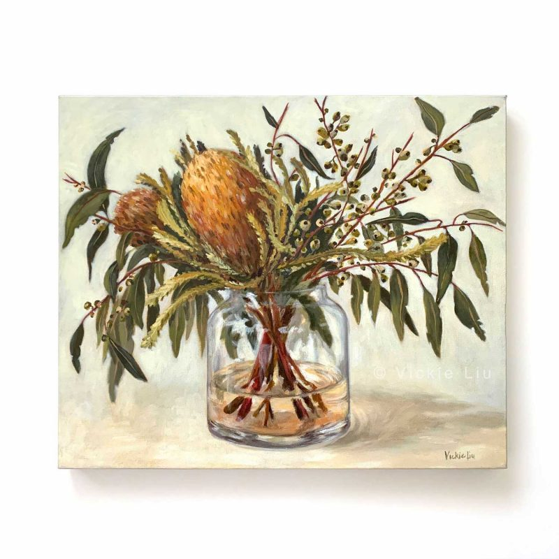 Autumn Australian Natives Still Life Original Canvas Painting
