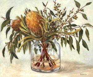 Autumn Australian Natives Still Life Original Painting