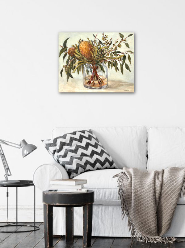 Autumn Australian Natives Still Life Original Painting Insitu