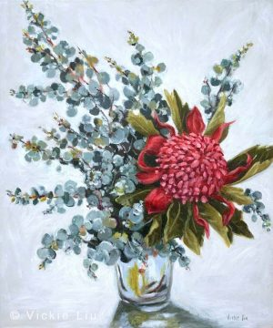 Blue Waratah Original Painting