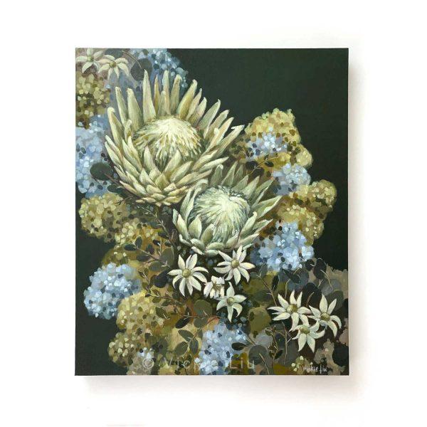 Flannel Flower Proteas Original Canvas Painting