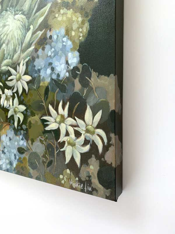 Flannel Flower Proteas Original Painting Right Edge