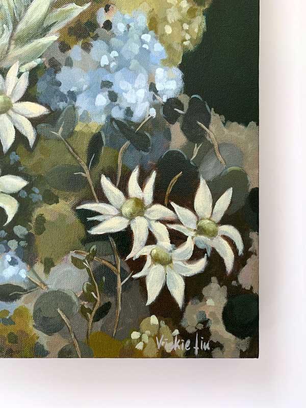 Flannel Flower Proteas Original Painting Signature