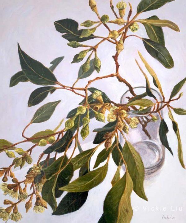 Lush Gum Leaves Original Canvas Painting