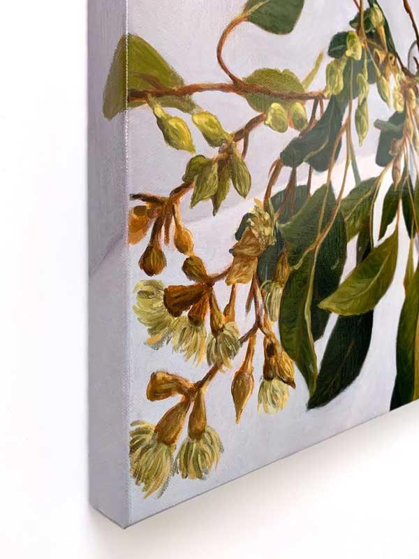 Lush Gum Leaves Original Painting Left Edge