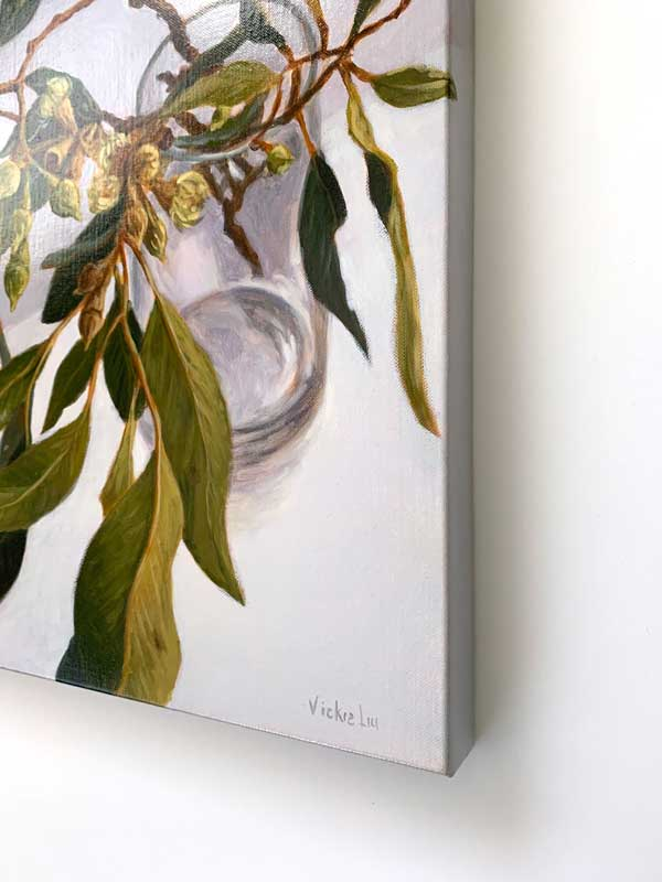 Lush Gum Leaves Original Painting right Edge