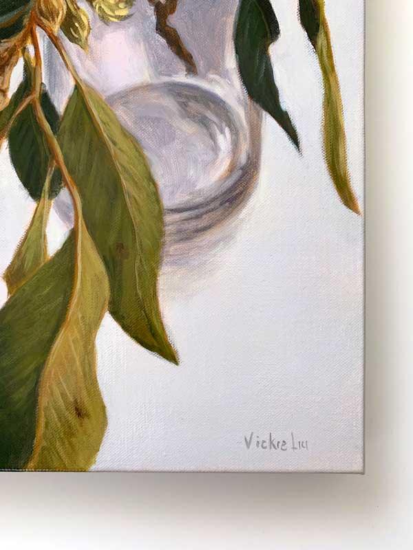 Lush Gum Leaves Original Painting Signature