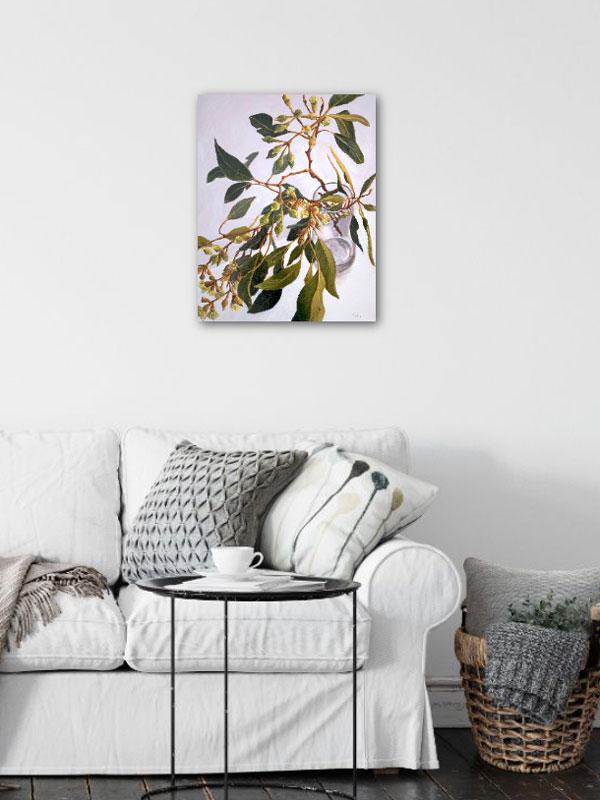 Lush Gum Leaves Original Painting Insitu
