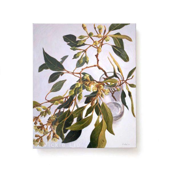 Lush Gum Leaves Original Painting