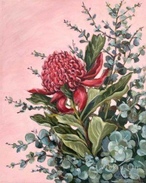 Pink Waratah Original Painting