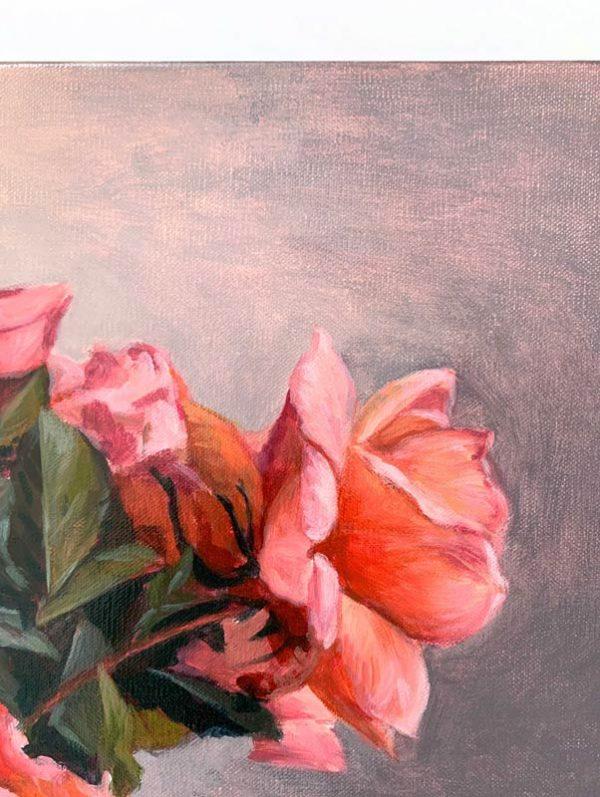 Roses in May Original Painting Flower Detail 3