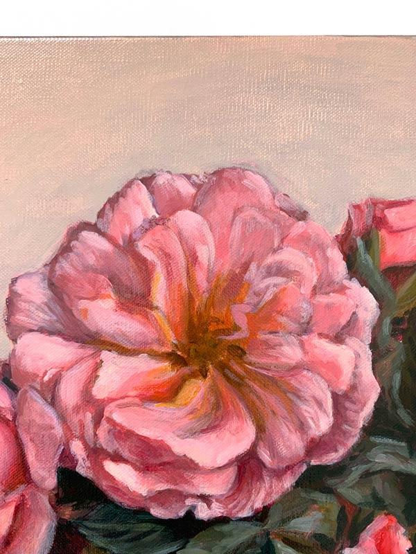 Roses in May Original Painting Flower Detail 1