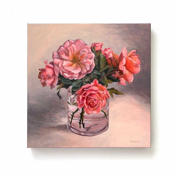 Roses in May Original Canvas Painting
