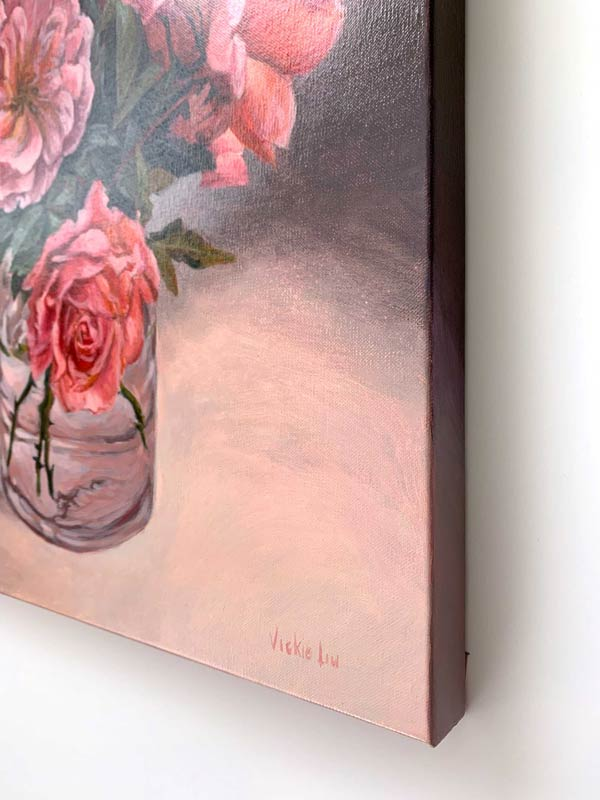 Roses in May Original Painting Right Edge