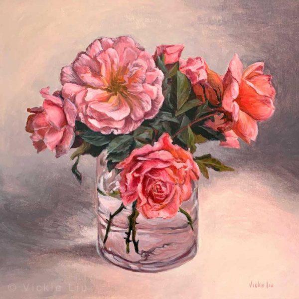 Roses in May Original Painting