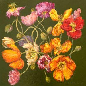 Spring Poppies Original Painting