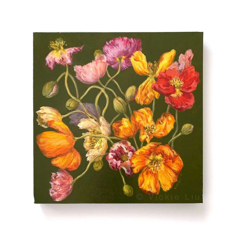 Spring Poppies Original Canvas Painting