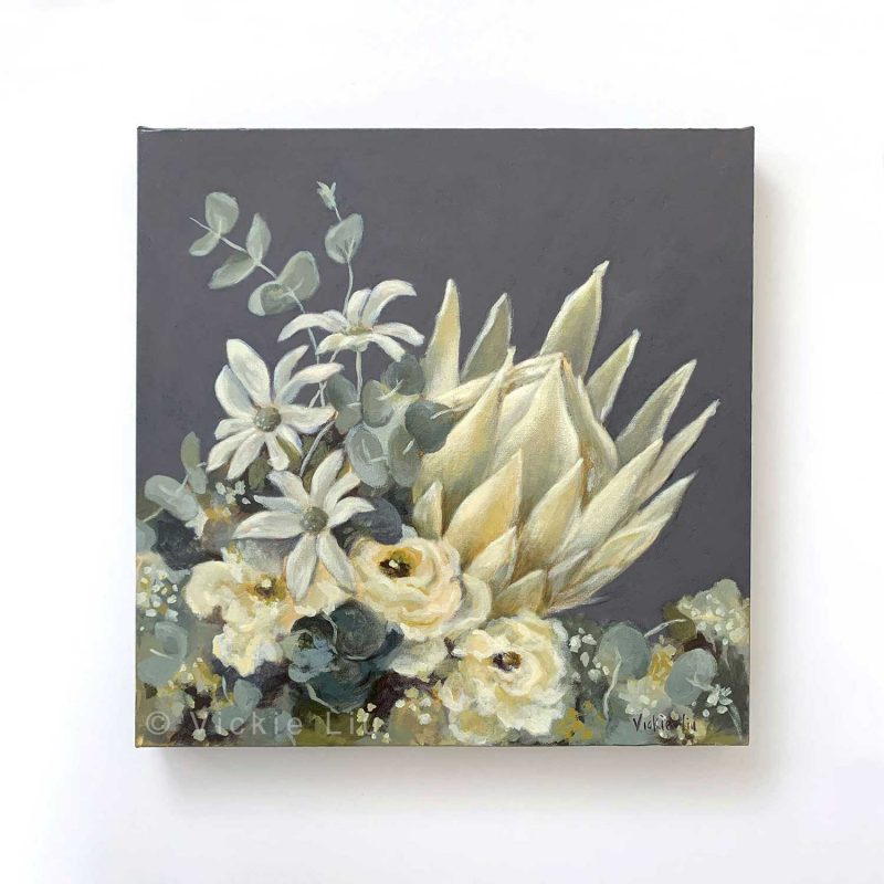 White King Protea Original Painting
