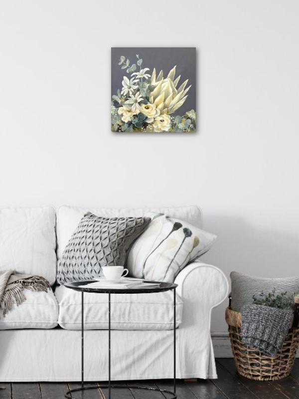 White King Protea Original Painting Insitu