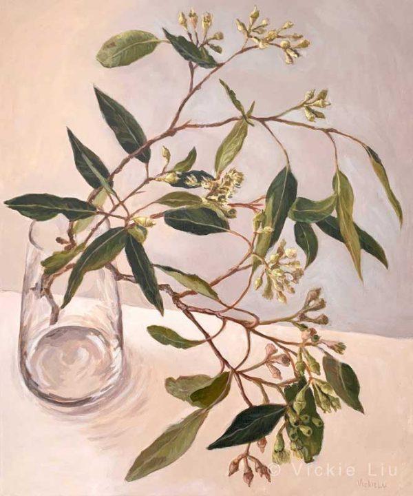 Zen Gum Leaves Original Canvas Painting