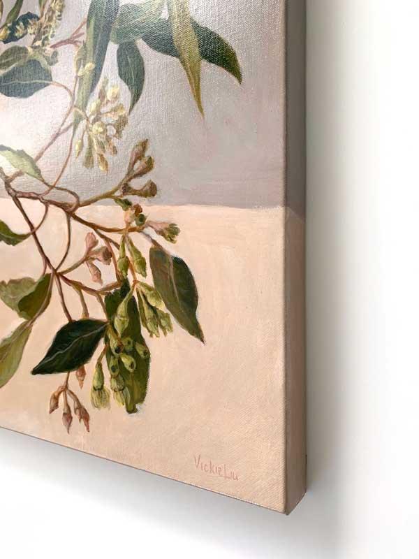 Zen Gum Leaves Original Painting Right Edge