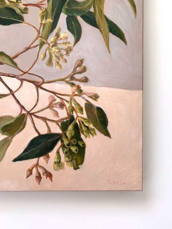 Zen Gum Leaves Original Painting Signature