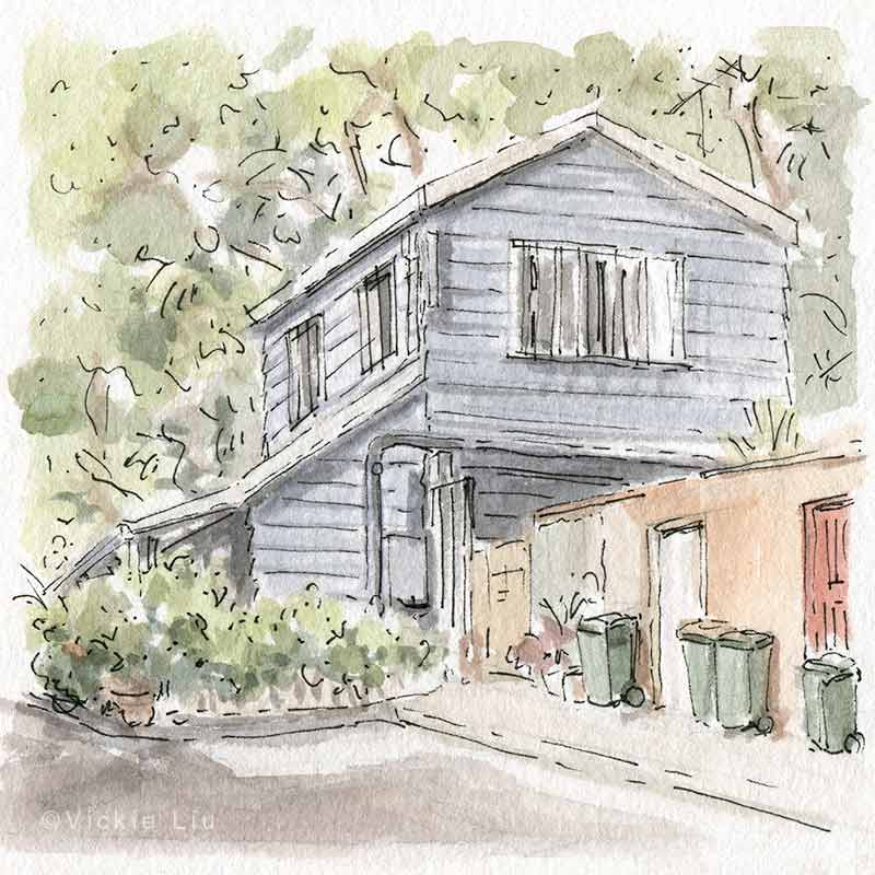 Cottage House Portrait Painting
